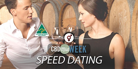 CBD Midweek Speed Dating | F 40-52, M 40-54 | April tickets