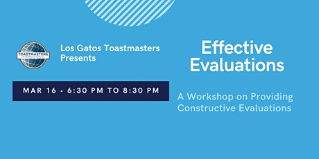 Toastmasters Evaluation Workshop tickets