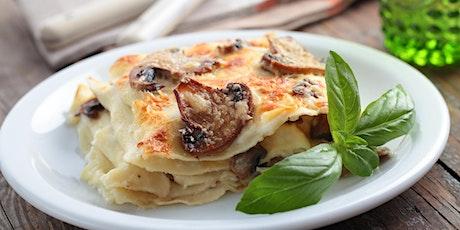 DIY: Mushroom Lasagna Dinner tickets