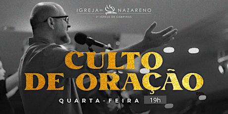 Culto de Oração -  21/04 - 19h ingressos
