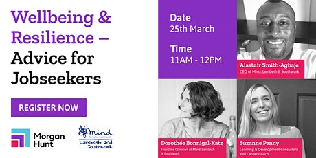 Wellbeing & Resilience – Advice for jobseekers tickets