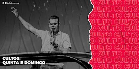 CULTO QUINTA-FEIRA 11/03 NOITE 18H30 ingressos