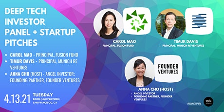 Deep Tech Investor Panel +  Startup Pitches (On Zoom) biljetter