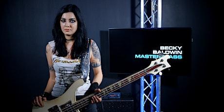 Becky Baldwin Bass Guitar Masterclass bilhetes