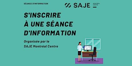 Séance d'information en français (en ligne) billets