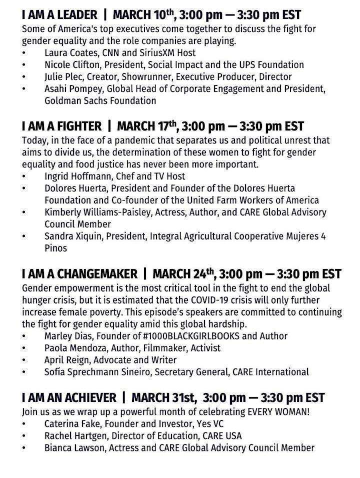 International Women's Day Speakers Series #IMEVERYWOMAN image