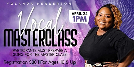 Vocal Master Class: Yolanda Henderson tickets