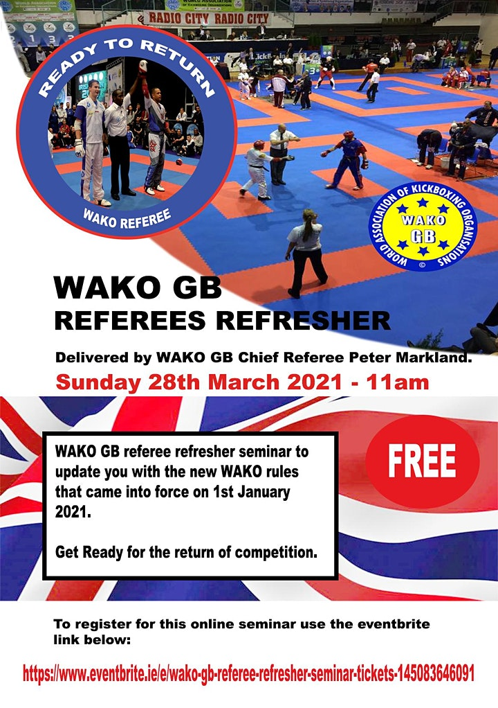 WAKO GB Referee Refresher Seminar image