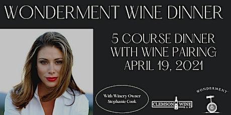 Wonderment Wine Dinner tickets