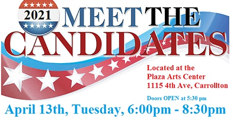 "Historic Downtown Carrollton's ""Meet the Candidates""  for City Council tickets"