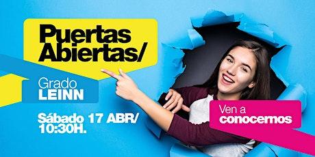 LEINN/ PUERTAS ABIERTAS MADRID [17 ABR | 10H30] entradas