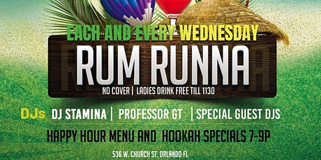 Rum Runna Wednesday's tickets