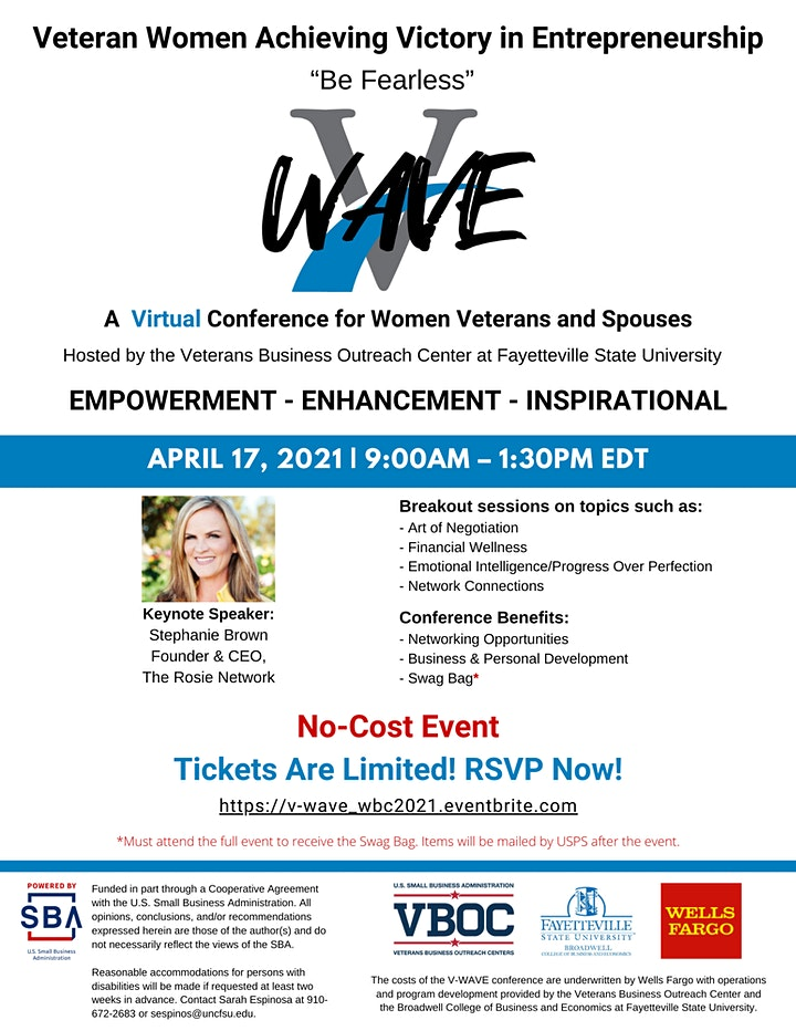 Veteran Women Achieving Victory in Entrepreneurship Conference (Virtual) image