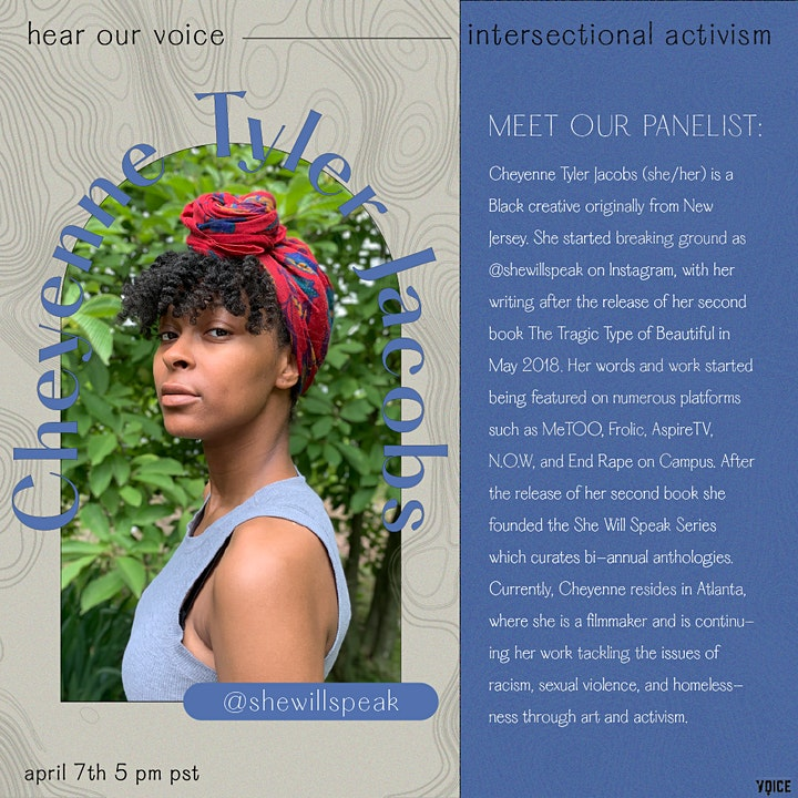 Hear Our Voice: Intersectional Activism Panel image