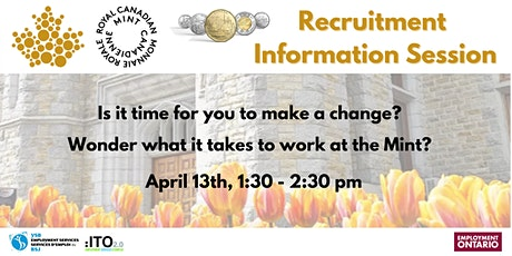 Royal Canadian Mint Recruitment Information Session tickets