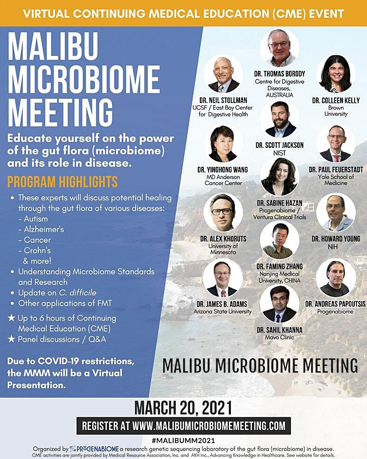 Malibu Microbiome Meeting (CME, Virtual) image