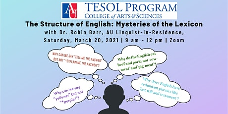 The Structure of English: Mysteries of the Lexicon tickets