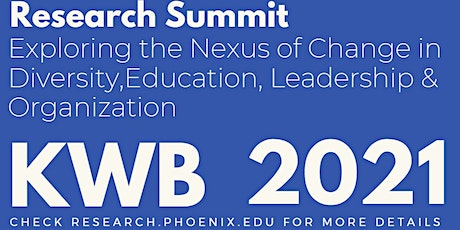 KWB Annual Research Summit 2021 tickets