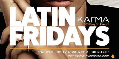 LATIN FRIDAYS | KARMA LOUNGE | 6pm-12am tickets
