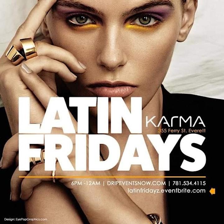 LATIN FRIDAYS | KARMA LOUNGE | 6pm-12am image