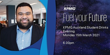 KPMG Auckland Student Drinks Evening 2021 tickets