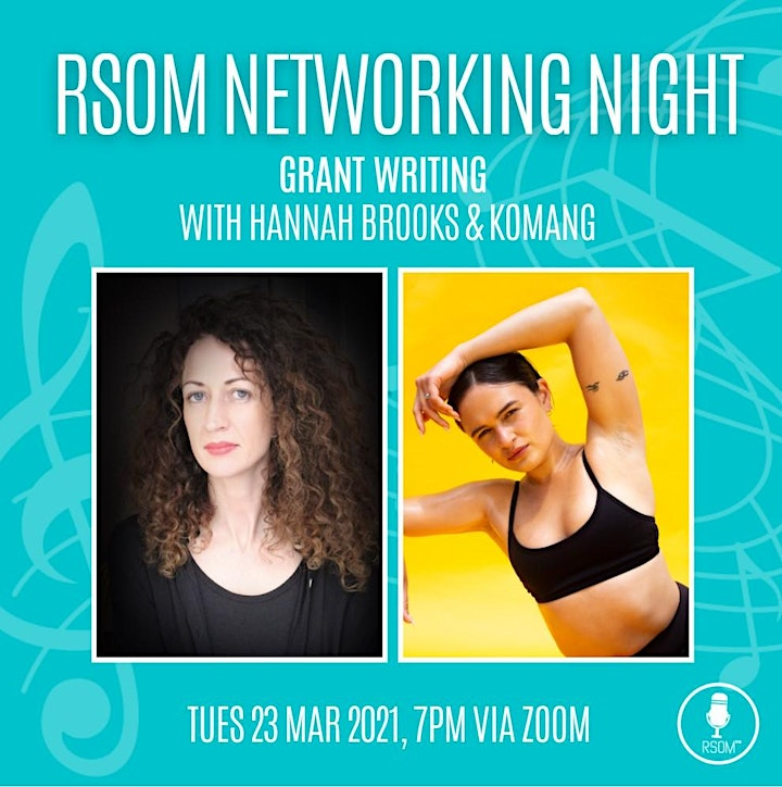 RSOM Networking Night #3 2021 // Grant Writing with Hannah Brooks & Komang image
