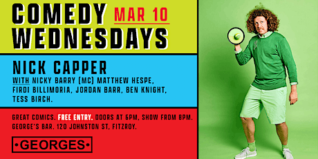 Comedy Wednesdays at George's - Nick Capper tickets