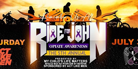 5th Annual Ride for John - Remember US ALL tickets