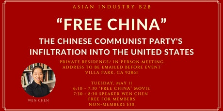 "AIB2B Presents ""Free China"" Screening feat. Speaker Wen Chen tickets"