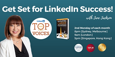 LinkedIn Success!  Group Career Coaching Virtual 'LIVE' Events tickets