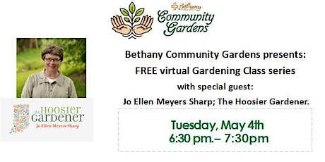 Bethany Community Gardens FREE Virtual Gardening Class:  Pollinators. tickets