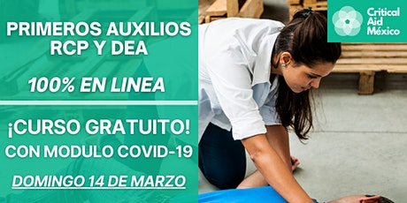 PRIMEROS AUXILIOS, RCP  Y DEA - CURSO GRATUITO boletos
