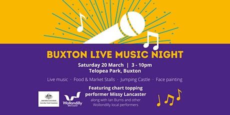 Buxton Live Music Event tickets