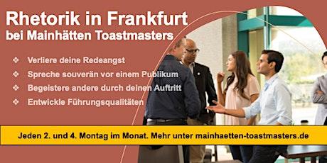 Rhetorik in Frankfurt bei Mainhätten Toastmasters Tickets