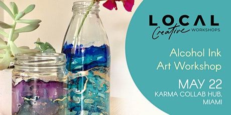 Alcohol Ink Abstract Art Workshop - May 22 tickets