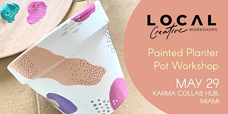 Hand Painted Planter Pot Workshop - May 29 tickets