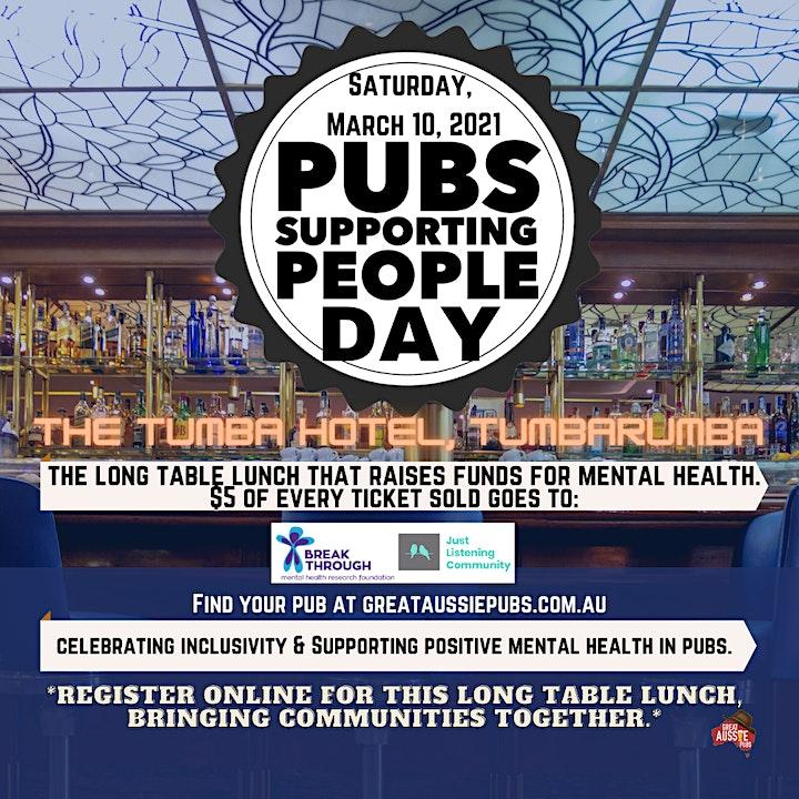 Pubs Supporting People Day - The Tumba Hotel, Tumbarumba image