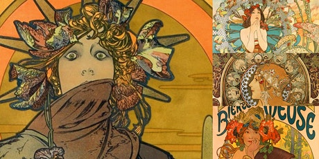 'Alphonse Mucha: The Illustrator Who Changed the Advertising World' Webinar entradas