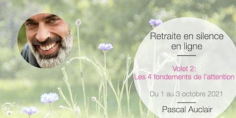 Retraite de pleine conscience en ligne avec Pascal Auclair - octobre 2021 billets