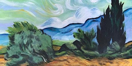 Chill & Paint Sat Night  Auck  City  - Van Gogh Wheatfield! tickets