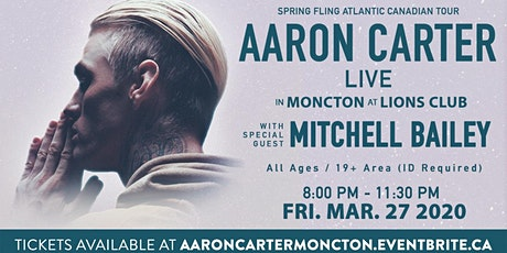 Aaron Carter's Atlantic Canadian Tour - Moncton - POSTPONED DUE TO COVID19 tickets
