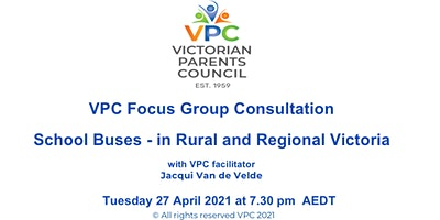 VPC Focus Group Consultation for Parents-Buses in Rural & Regional Victoria
