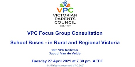 VPC Focus Group Consultation for Parents-Buses in Rural & Regional Victoria tickets