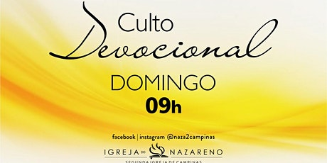 Culto Devocional -  25/04 - 09h tickets