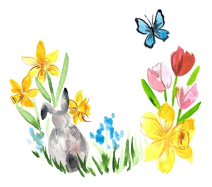 Aquarell Florals Ostern Live ZOOM Onlinekurs - Kreativ zu Hause: Bild