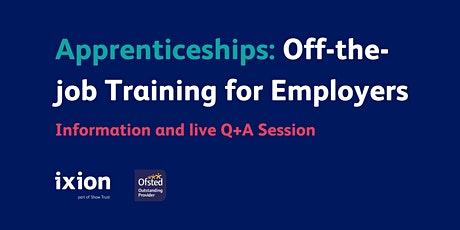 Apprenticeship off-the-job training for Employers: Info Session and Q+A tickets