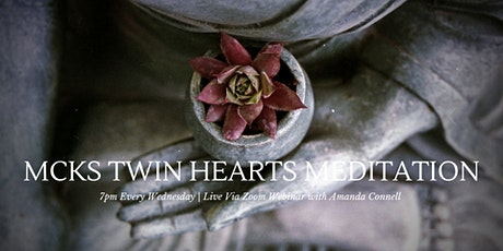 Evening Twin Hearts Meditation Online Via Zoom Webinar tickets