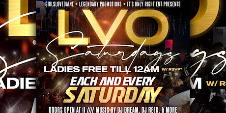 L.V.O Saturday's tickets