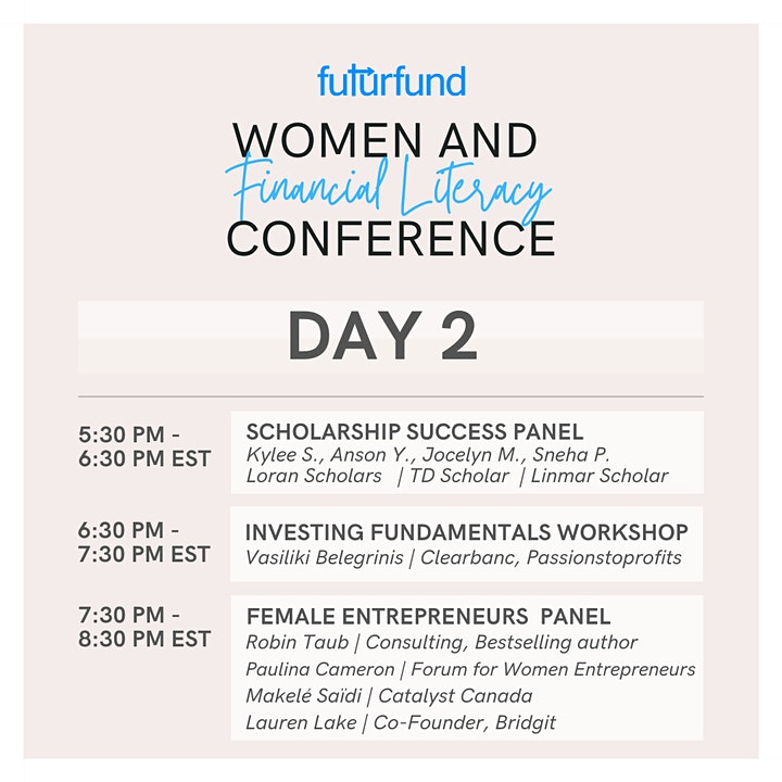 FuturFund: Women & Financial Literacy Conference 2.0 image