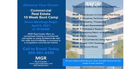 Free Commercial Real Estate Training tickets